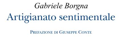 Gabriele Borgna - Artigianato sentimentale - Puntoacapo
