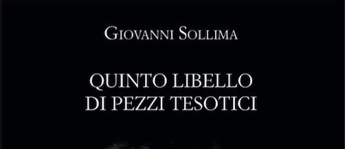 """La breve di Paolo Pera al """"Quinto libello di pezzi tesotici"""" di Giovanni Sollima"""